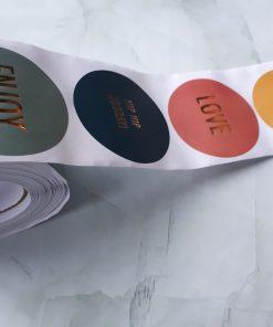 4 kleuren stickers Engels
