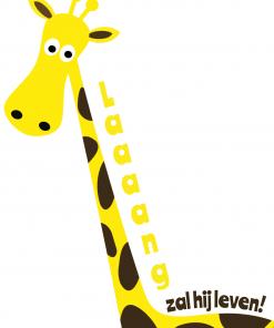 Giraffe ansichtkaart