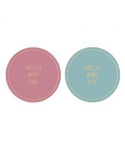 Hello baby girl/boy (2 stuks)
