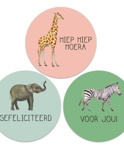 Safari stickers (3 stuks)