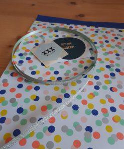 Cadeauzakje confetti 17×25 (per 5 stuks)