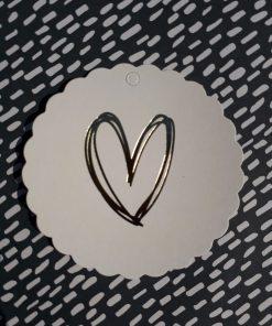 Label gouden hart (wit)