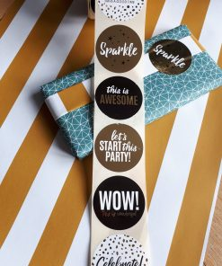 Stickerset sparkle goud/zwart