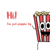 Ansichtkaart Poppin' by