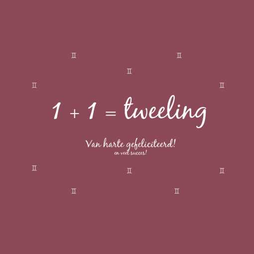 Tweeling – ansichtkaart