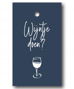 Cadeaulabel – Wijntje doen?