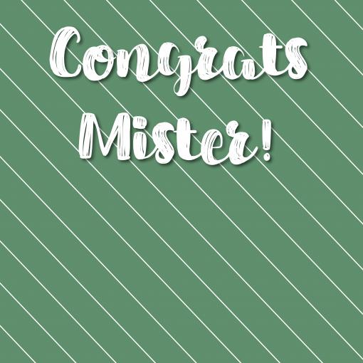 Ansichtkaart – Congrats mister
