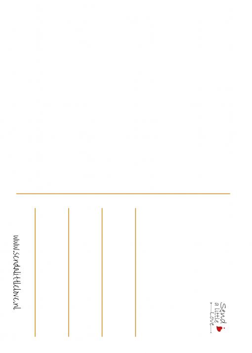 Ansichtkaart – Hey, leuk mens