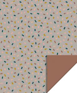 Inpakpapier – Confetti Taupe/Terra