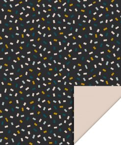 Inpakpapier – Confetti Dark Grey