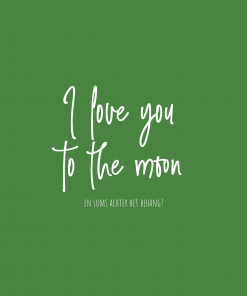 Ansichtkaart – Love you to the moon