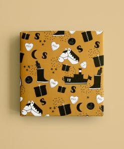Cadeaupapier – Sinterklaas illustratie