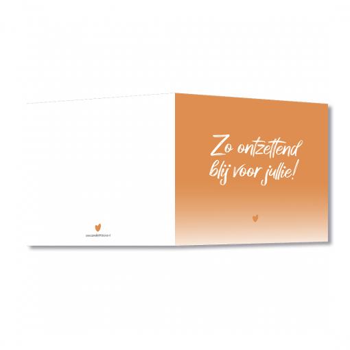 Wenskaart – Zo blij voor jullie