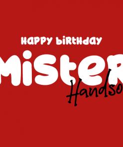 Ansichtkaart – Mister Handsome