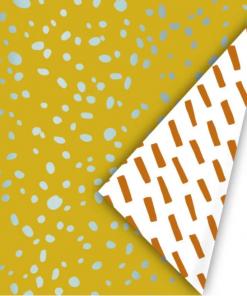 Cadeaupapier – Dots oker/mint/roest