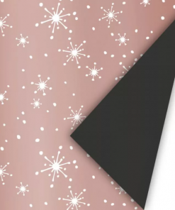 Cadeaupapier – Sparkle roze/zwart
