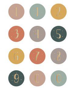 Cadeaustickers – Nummers / Leeftijden