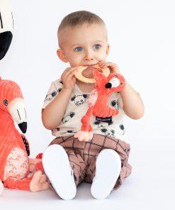Babyspeelgoed Les Deglingos – Bijtring / Bijtspeeltje met knuffel