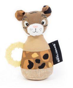 Babyspeelgoed Les Deglingos – Rammelaar/Bijtring Tijger
