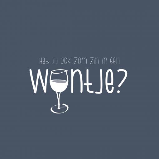 Ansichtkaart – Ook zo'n zin in een wijntje?