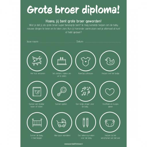 Grote broer diploma