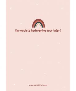 Geboortebundel – Bewaarbundel geboortekaartjes regenboog roze