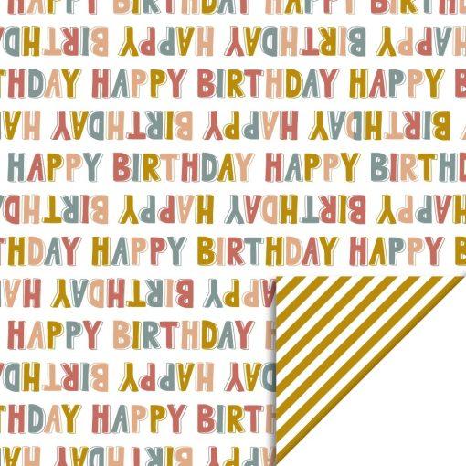 Cadeaupapier – Happy birthday